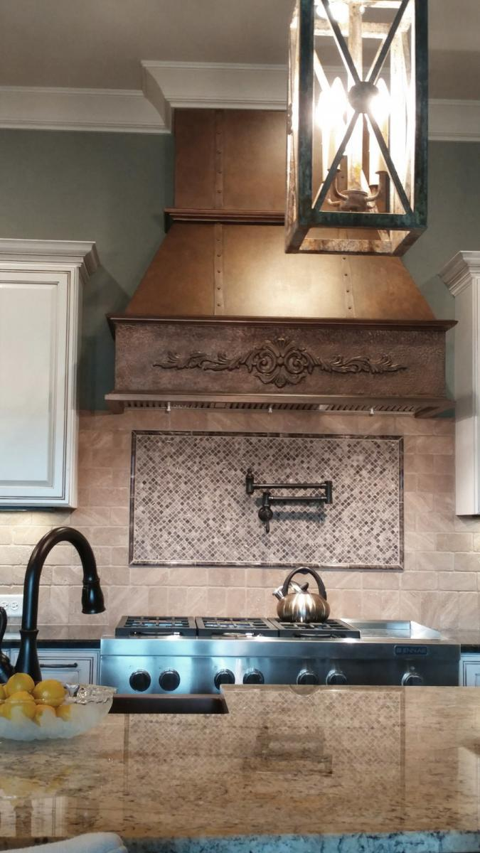 faux copper hood design