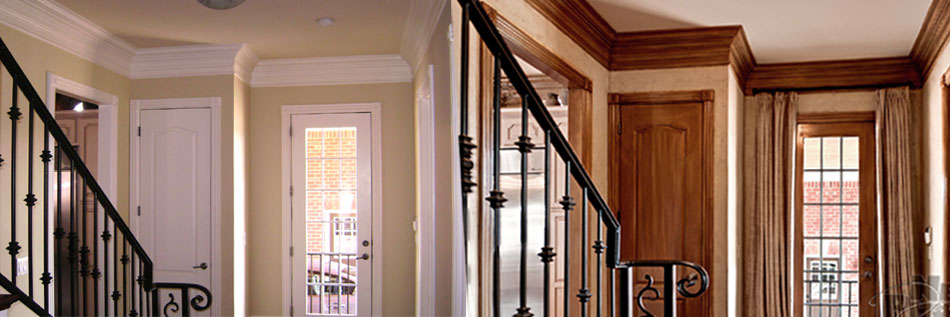 Before and After Back Hallway – This Brentwood, TN customer's European home makeover.