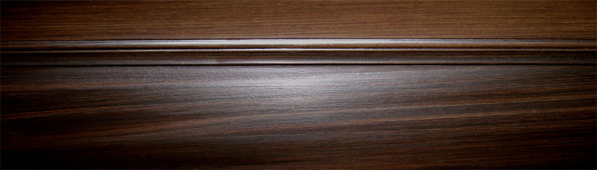 Faux black walnut wood grain  close-up