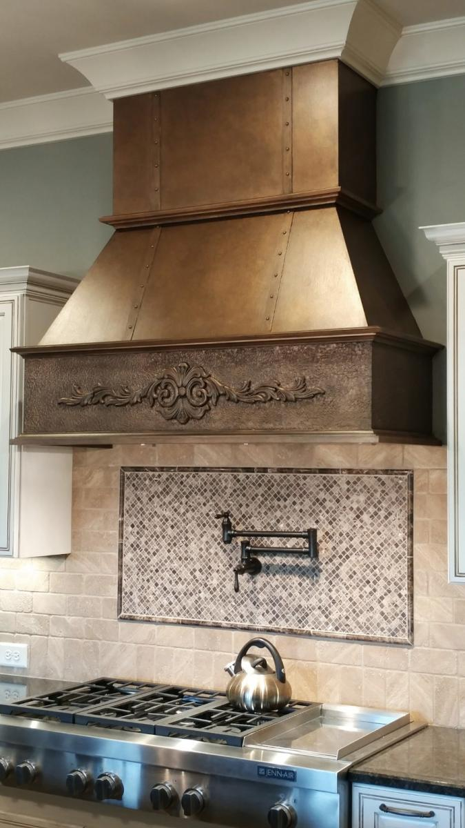 faux copper hood