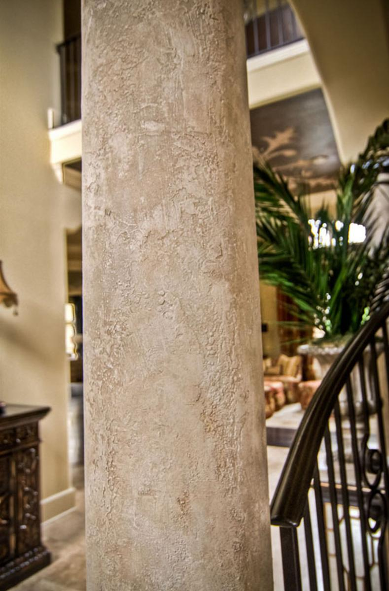Faux Spanish stone columns for this customer's front entryway at the Governors Club Brentwood, TN.