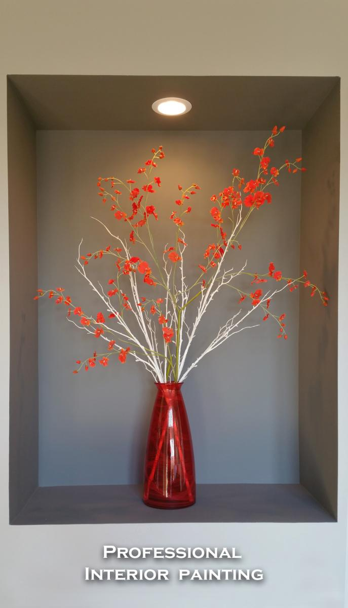 Interior painting Beautiful accent colors