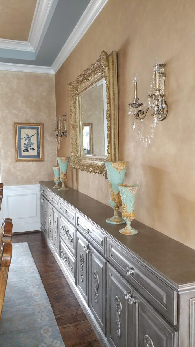 furniture aged silver finish