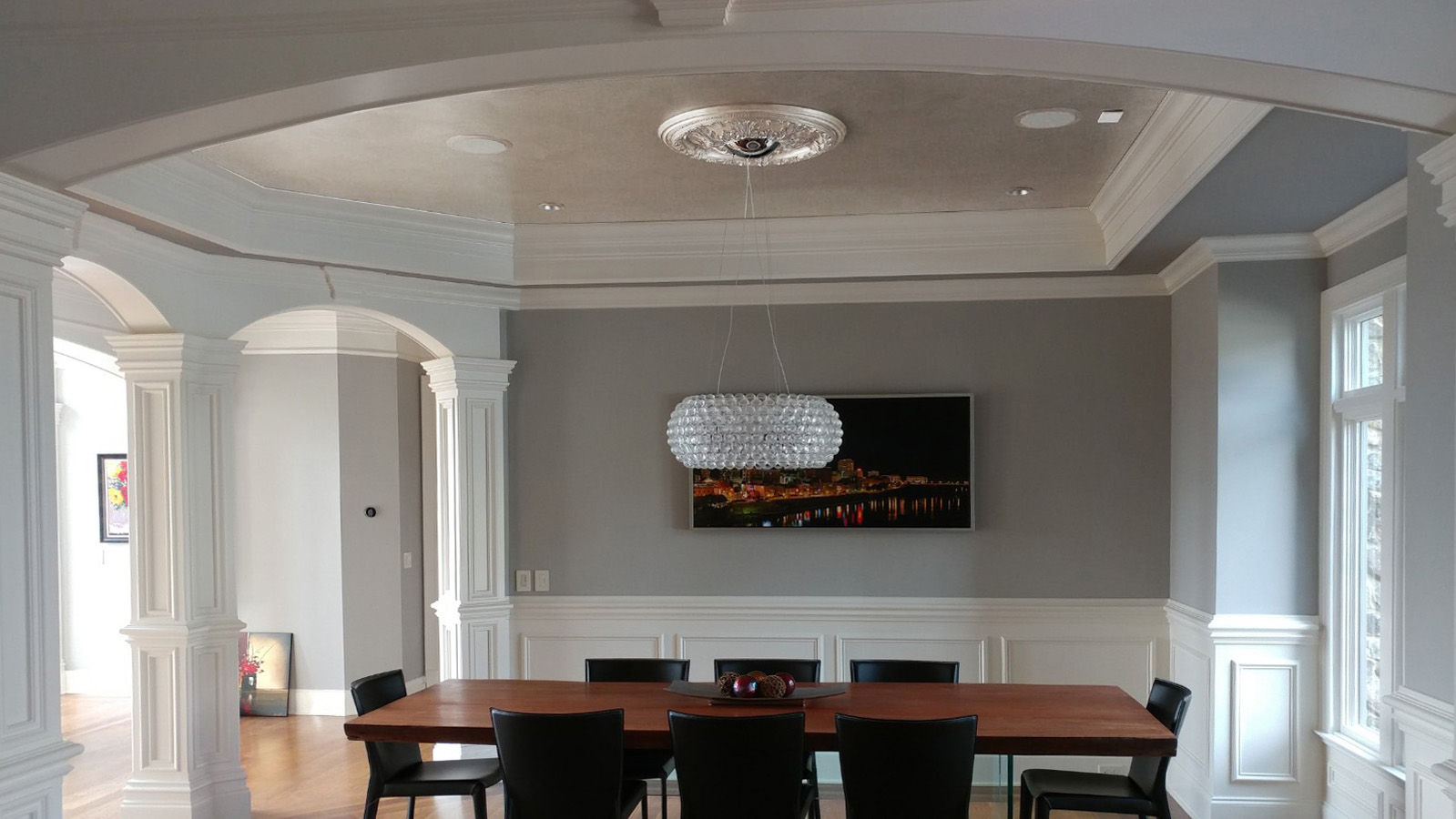Metallic Ceiling Finish