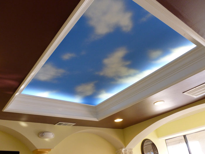 Elevating sky mural design.