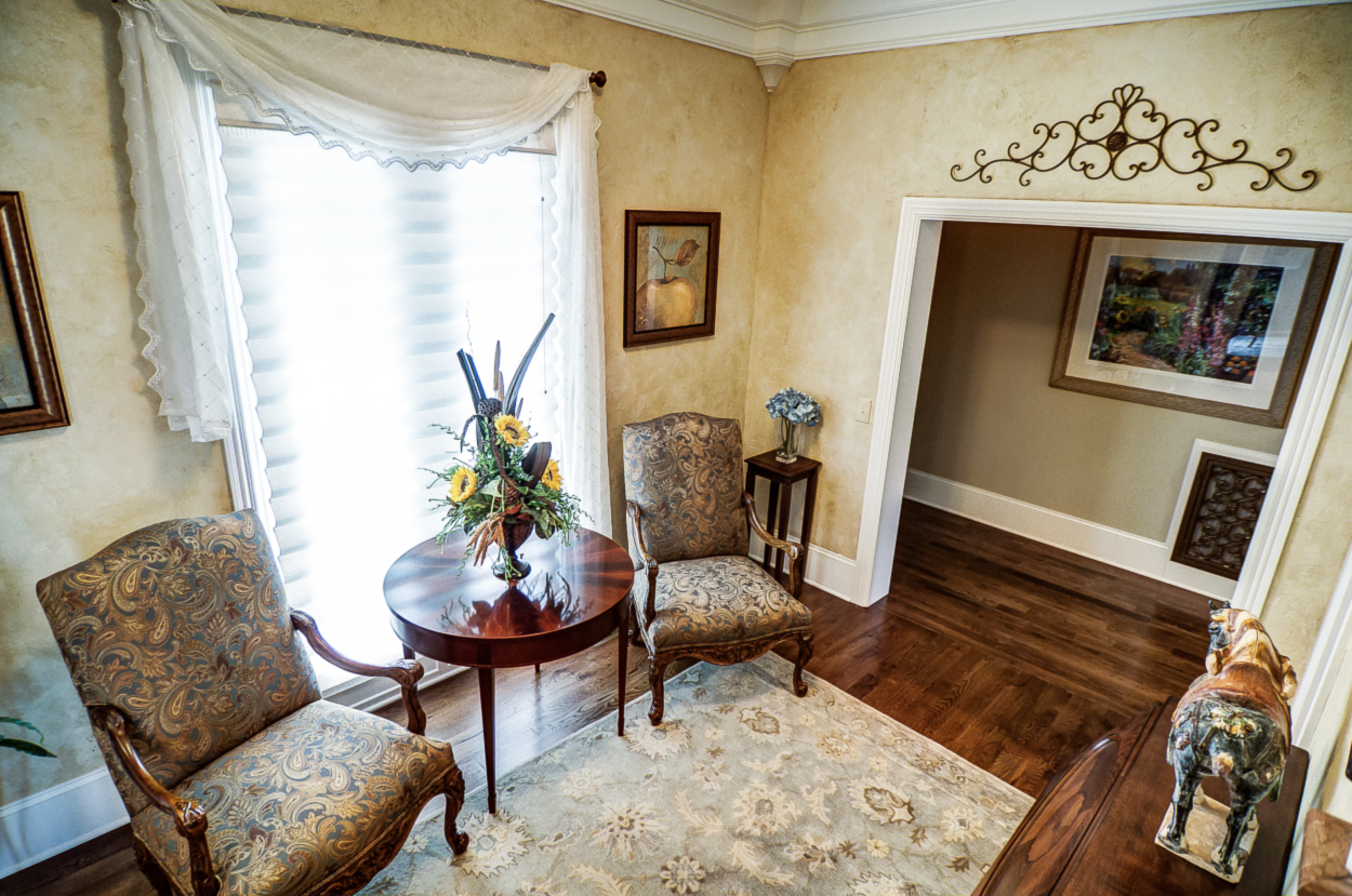 French Plaster Walls Entry Parlor