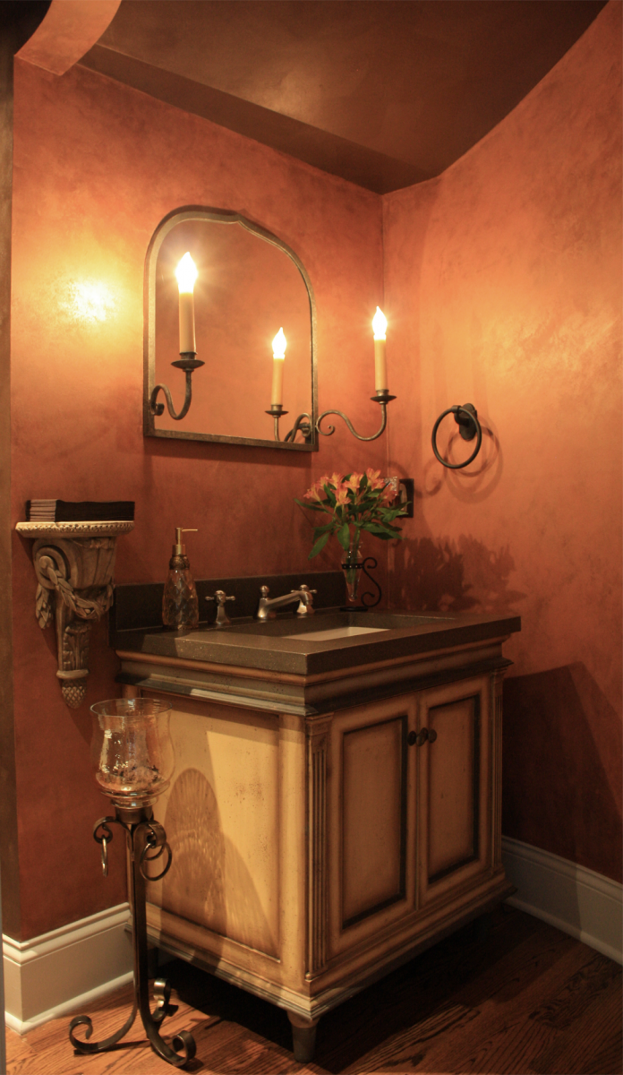Delight your guests with a stunning powder room surprise.