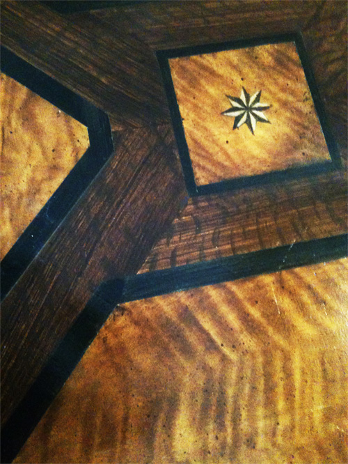 Close-up Faux Wood In-Lay Floor Designs