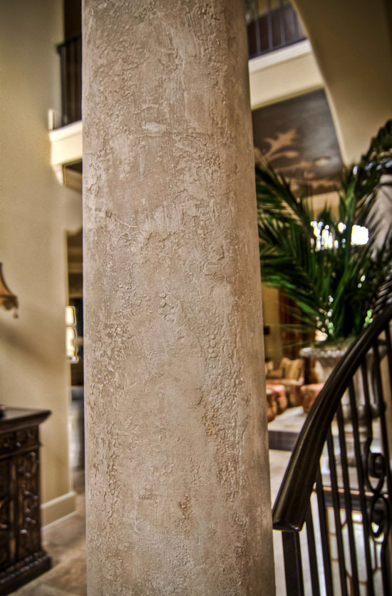 Found in Our Columns Gallery – Design include marble, stone, glazes and plasters looks.