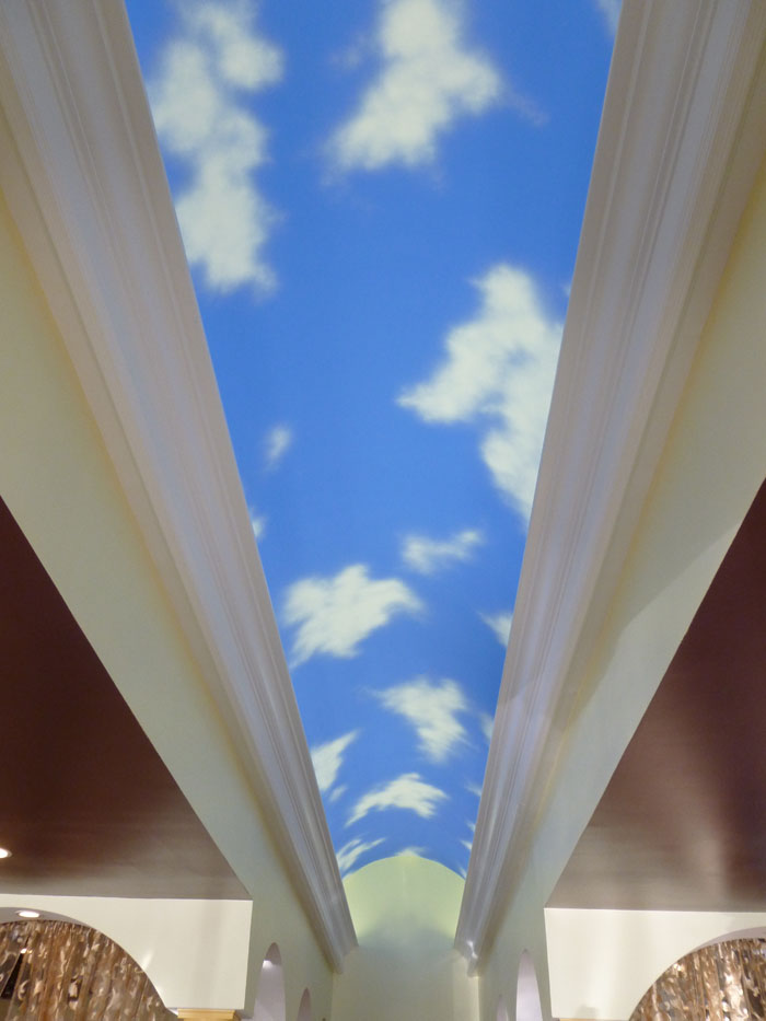 Sky murals can open any space.