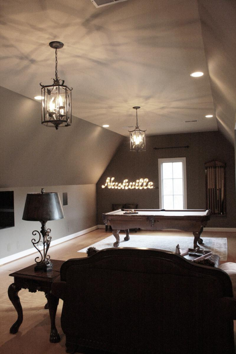 Soft and is how you'll feel in this Brentwood bonus room with a custom color palate selected and painted professionally by Faux Décor.
