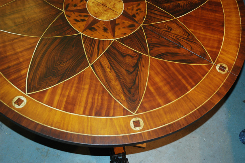 Faux Wood In-lay Table Tops