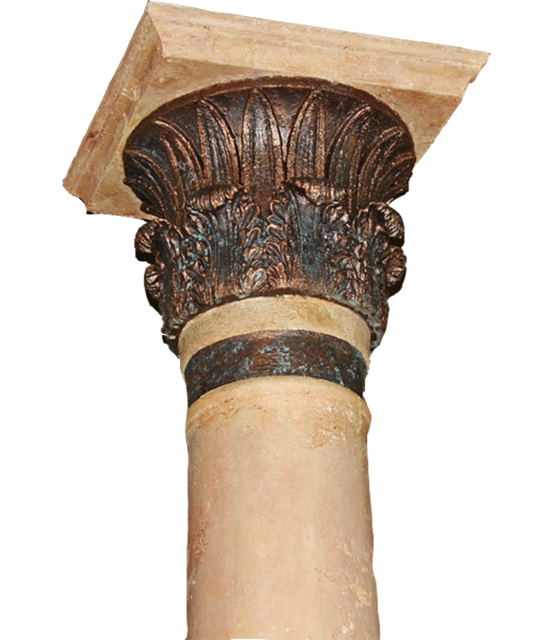 Bronze and copper columns