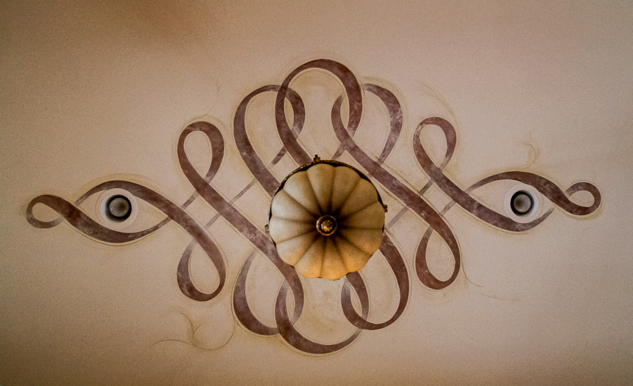 Hand painted and custom enhanced Modello ceiling designs.