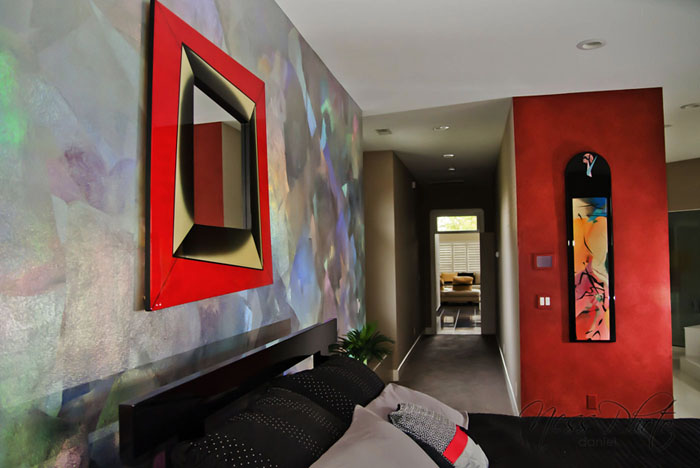 Holographic foil and Venetian plaster enhancements.