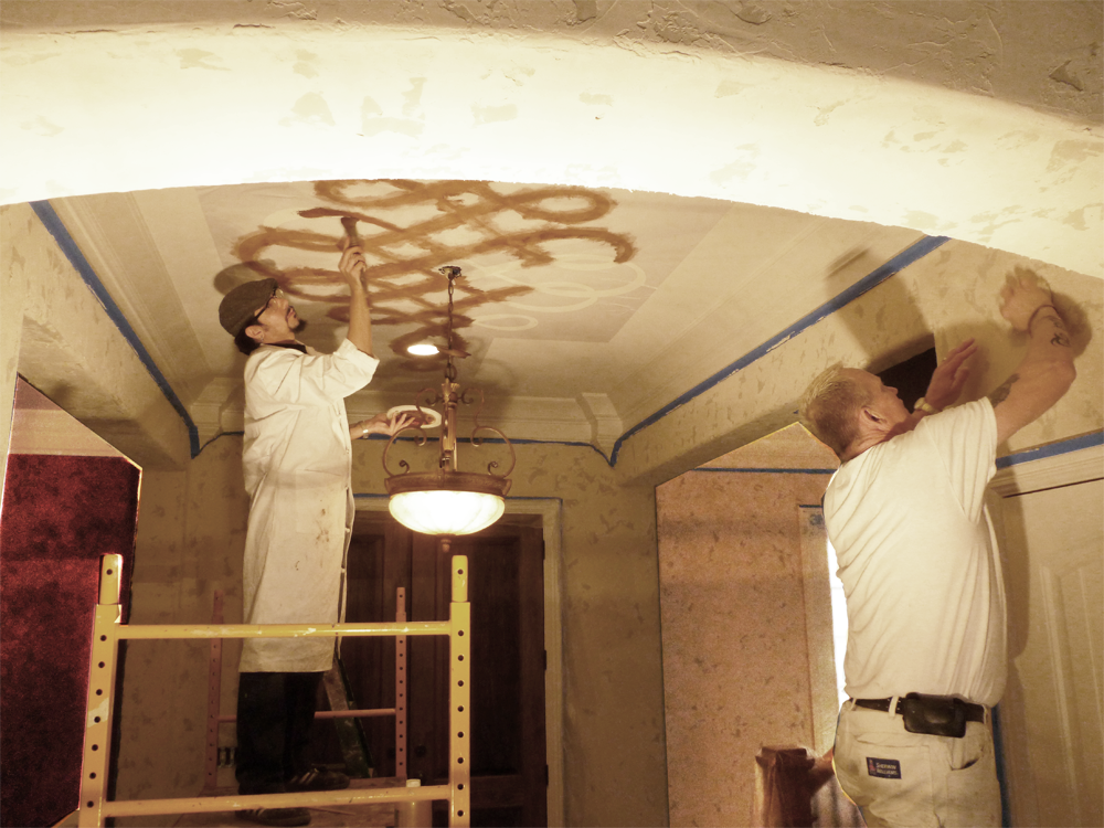 Master Artisan Andrew and team member Carlos at work.